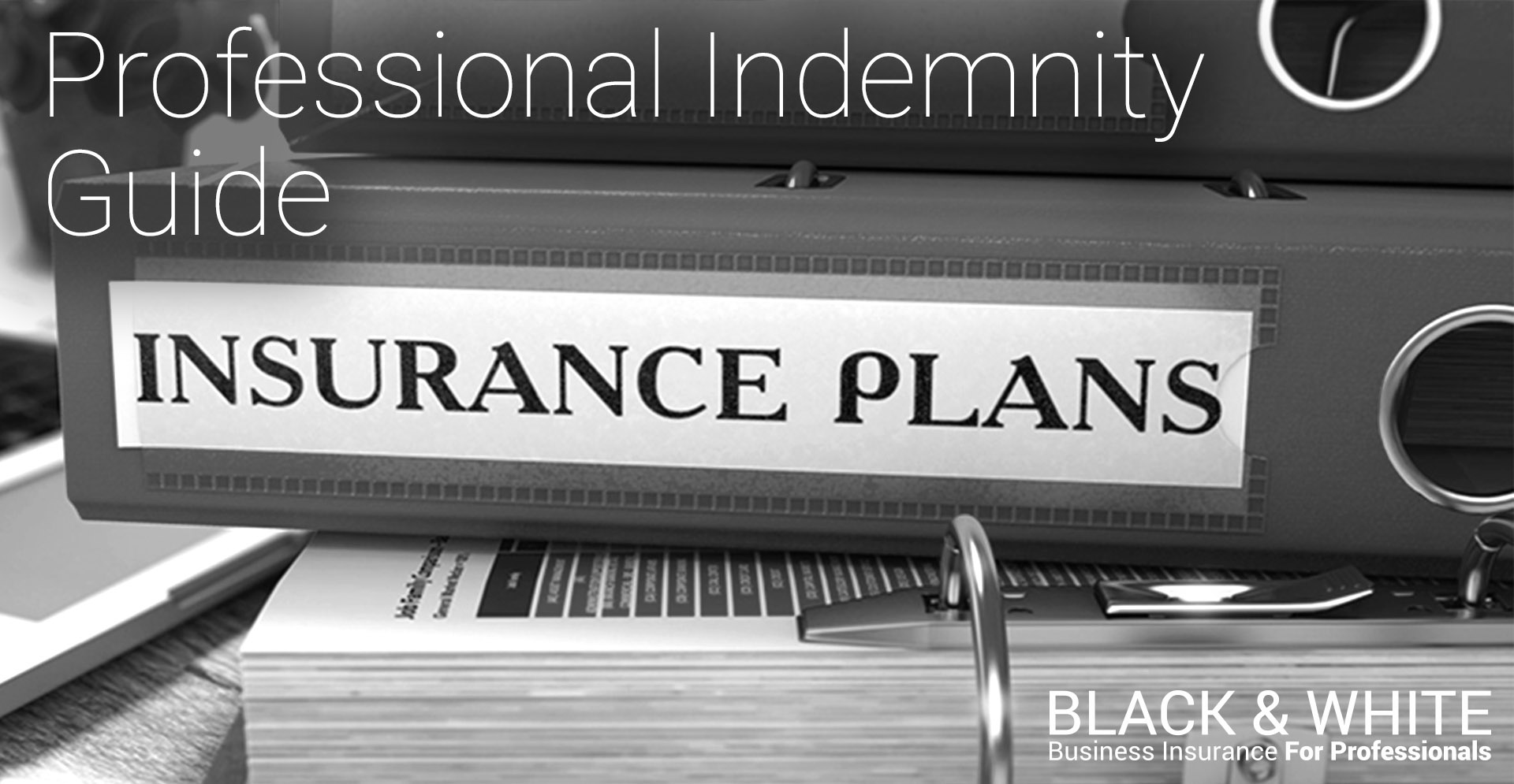 Professional Indemnity Insurance Guide | Black and White