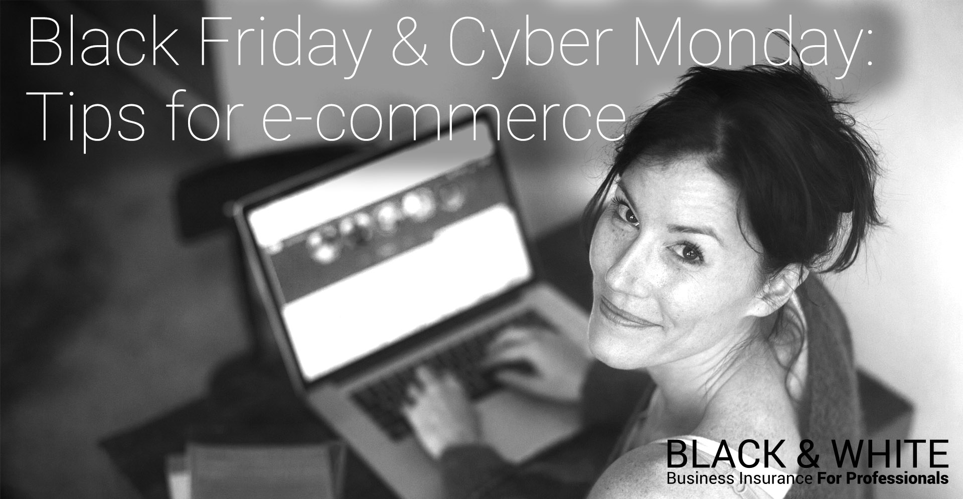 ecommerce and black friday | black and white