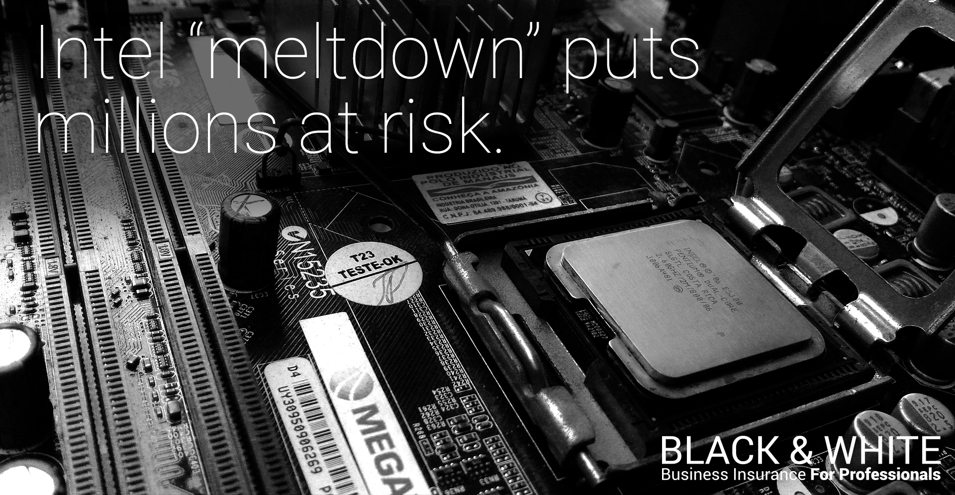 intel security meltdown | black and white